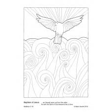 Prayerful Colouring Baptism of Jesus (PDF)